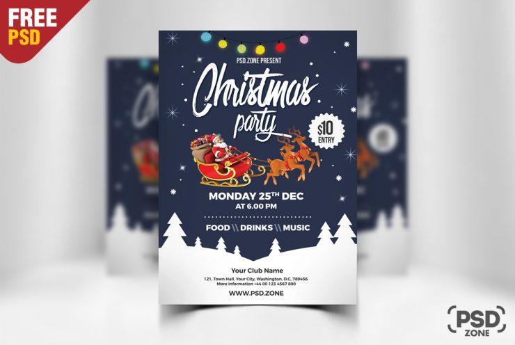 Promoción : Plantilla PSD para invitaciones navideñas Gratis 🎁 – Pc ...