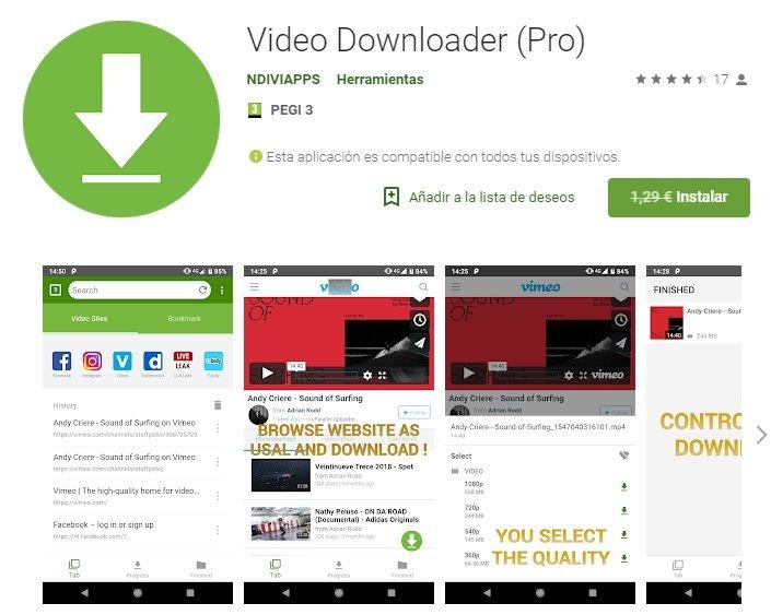 Aplicación para Android Video Downloader Pro – PC-Solución